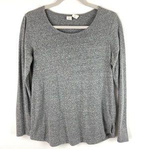 Artisan NY Light Gray Long Sleeve Top Tee Shirt